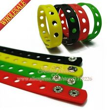 1Pcs 21CM Fashion Silicone Wristbands Bracelets For Adult toy Mixed 14 Colors