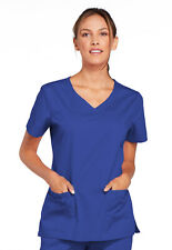 Galaxy Blue Cherokee Workwear V Neck Scrub Top 4727 GABW