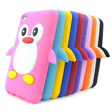 For iPod Touch 4 4th GEN Color Penguin Silicone Protector Soft Skin Case Cover