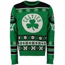 Boston Celtics Klew Thematic Ugly Sweater - Kelly Green