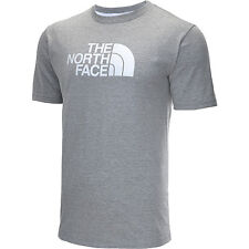 the north face mens half dome short-sleeve t-shirt grey/white logo various sizes