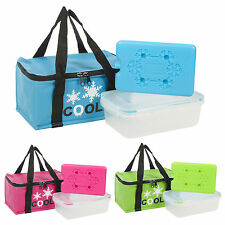 Foil Insulated Thermal Cooler Bag Ice Pack Lunch Sandwich Box Food Container