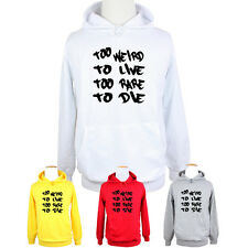 Hunter S Thompson Too Weird To Live Too Rare To Die Hoodie Tops For Boys Girls