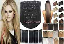 "15""18""20""22""24""26""28"" Full Head Clip In  Human Hair Extension 70g80g100g120g Lot"