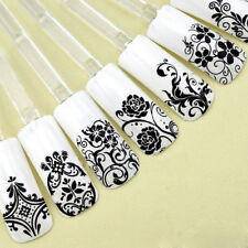 lace Flower 3D Decal Stickers Nail Art Tip stamping Manicure DIY Decoration