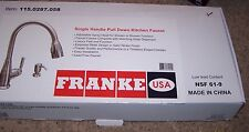 FRANKE 115.0287 High Arc Pull Down Kitchen Faucet with Soap Dispenser NIB