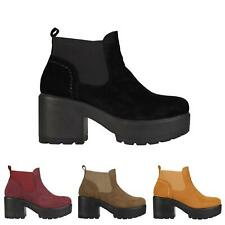 GIRLS KIDS CHELSEA CHUNKY SOLE ANKLE SCHOOL CASUAL SHOES BOOTS SIZES UK 10-2