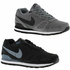 New Nike Air Waffle Leather Mens Black Grey Trainers Shoes Size UK 8-11