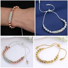 Newest Fashion Stretch Rondelle Crystal Spacer Beads Bracelet Women Jewelry Gift