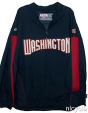 NATIONALS MLB AUTHENTIC MAJESTIC WASHINGTON PATCH LETTERS PULLOVER JACKET M