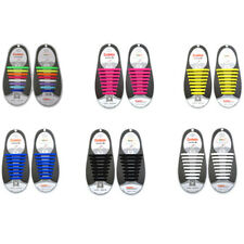 No Tie Shoelaces Elastic Silicone Shoe Laces Running Trainer Sneakers Sporting