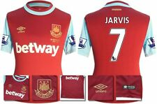 *15 / 16 - UMBRO ; WEST HAM UTD HOME SHIRT SS + PATCHES / JARVIS 7 = SIZE*