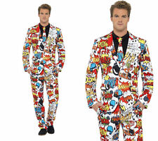 Mens Stand Out Suits Stag Do Party New Comic BookFunny Fancy Dress Costume