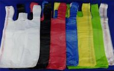 "11.5"" x 6"" x 21"" T-Shirt Bags Plastic Retail w/ Handles Variety of Colors & Qty."