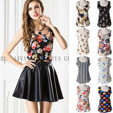 Cute Women Summer Casual Chiffon Tops Short Sleeve Loose Shirt Blouse 6 Size