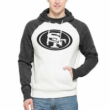 San Francisco 49ers '47 Brand Hashmark Pullover Hoodie - Natural - NFL