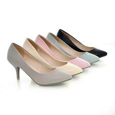 2015 Women's Pointed Toes Shoes Synthetic Leather High Heels Pumps US All Size