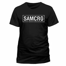 Sons Of Anarchy T Shirt SAMCRO Banner Logo Official Black Mens Tee NEW Crow Jax