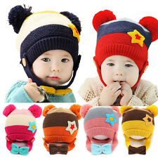 Promotion Toddlers Baby Boy Girl Kids Infant Winter Earflap Knitted Warm Cap Hat