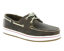 New Men Sperry Top Sider Cup Brown Leather Boat Deck Casual Shoes Size 7-13
