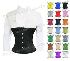 Full Steel Boned Heavy Lacing Satin Underbust Shaper Corset  #H9965-BT-SA