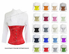 Full Steel Boned Heavy Lacing Satin Underbust Shaper Corset  #H9965-OT-SA