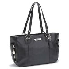 Authentic Coach GALLERY LEATHER ZIPPER TOTE-F19252 Putty or Black NWT $328