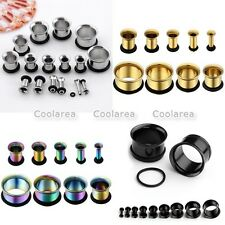 "9 Pairs Stainless Steel Flared Ear Plugs Tunnels 12g-9/16"" Horn Expander Gauge"