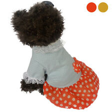 Cute Pet Dog Cat Bow Polka Dot Dress Lace Skirt Dog Clothes Costume Promotion