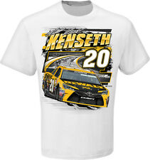2015 MATT KENSETH #20 DEWALT FRONT RUNNER WHITE 100% COTTON NASCAR TEE SHIRT