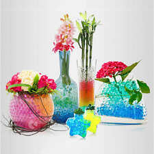100 Bags Colorful Crystal Mud Soil Water Beads Jelly Gel Ball Flower Plant Decor
