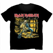 Iron Maiden T Shirt Piece of Mind Official Mens Black Tee NEW All Sizes. Eddie