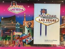 Las Vegas Welcome Sign Picture Frame Casino Hotels Photo Glass Wynn Paris Pink
