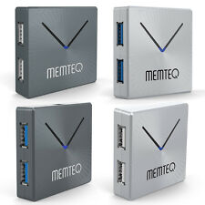 MEMTEQ 4 Port USB 2.0/3.0 Hub High Speed 480Mbps/5Gbps for PC Macbook Laptop