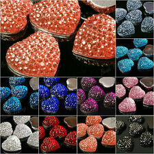 Heart love Resin Cabochons Flatback 15pcs 16x16mm Vintage Style Cameo Brandnew