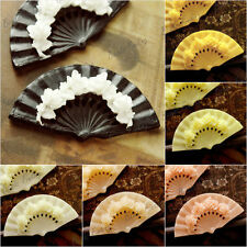 DIY 57.5x31mm 2pcs Resin Cabochons Flatback Wholesale Fan and Flowers Wholesale