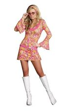 GO GO GORGEOUS New Adult Halloween Womens Costume Dress by Dreamgirl 5 piece set