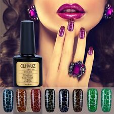 New Arrive CLHVUZ Leopard Crack UV led Nail Gel Polish Soak off Varnish Crackle