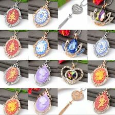 Alloy Crystal Rhinestone Beads Xmas Bell Crutch Dangle Pendant For Necklace Gift