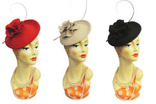 New Retro 1940s 50s Hollywood Glamour Retro Flower Saucer Tilt Hat Hatina