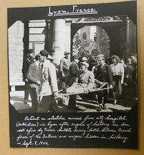 WWII Signal Corps photo LYON FRANCE Hotel Dieu Hospital & SNIPERS