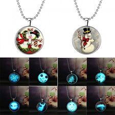 Hot Steampunk Glow in the Dark Pendant Necklace Halloween Christmas Jewellery