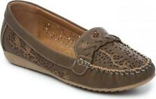 Natrelle STEFANIE Ladies Womens Faux Leather Slip-On Moccasin-Style Shoes Brown
