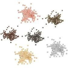 100 Flower/Snowflake/Daisy Rondelle Spacer Beads Charms-Gold,Silver,Bronze,Black