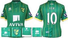 *15 / 16 - ERREA ; NORWICH CITY AWAY SHIRT SS + PATCHES / FER 10 = SIZE*