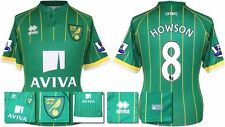 *15 / 16 - ERREA ; NORWICH CITY AWAY SHIRT SS + PATCHES / HOWSON 8 = SIZE*