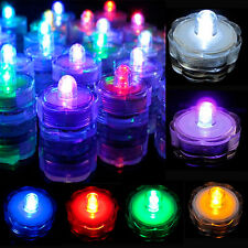 3/6/12/24/36Pcs LED Submersible Waterproof Tea Light Wedding Decoration Party