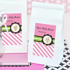 48 Personalized Pink Owl Sugar Cookie Mix Pouches Baby Shower Favors