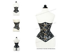 18 Double Steel Boned Waist Training Brocade Underbust Corset #8334SV-MC-BRO