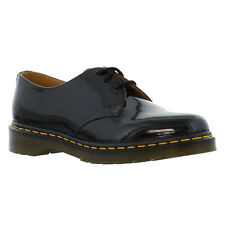 Dr Martens 1461 Patent Womens Black Gloss Shiny Leather Shoes Size 4-8